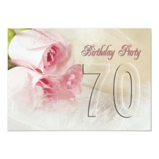 Birthday party invitation for 70 years