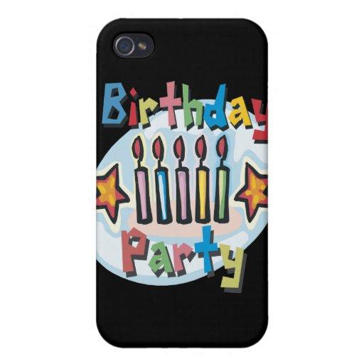 Birthday Party Invitation iPhone 4/4S Cases
