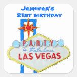 Birthday Party Invitation Las Vegas SIgn