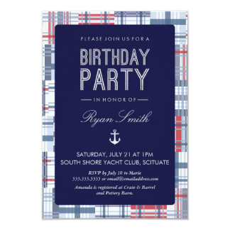 Birthday Party Invitation - Nautical, Summer