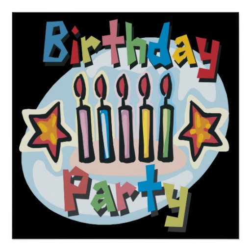 Birthday Party Invitation Print