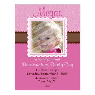 BIRTHDAY PARTY INVITATION prettily 2 Postcards