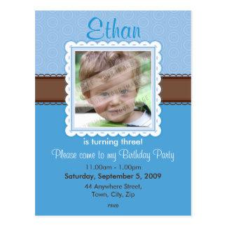 BIRTHDAY PARTY INVITATION prettily 3 Postcards