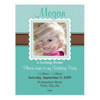 BIRTHDAY PARTY INVITATION :: prettily 7 Postcard