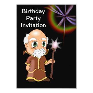 Birthday party invitation with wizard warlock