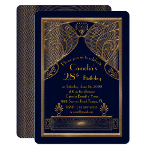 Great Gatsby Party Invitations Announcements Zazzlecouk