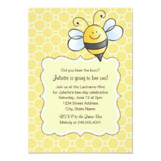 Birthday Party Invitation   Yellow Bumblebee