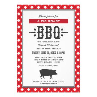 Birthday Party Invitations Backyard BBQ Theme