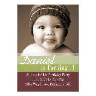 Birthday Party Invite B-Day I brgr