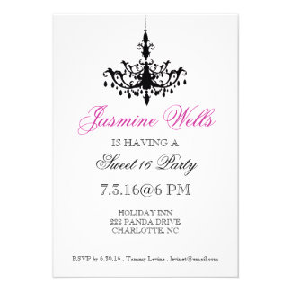 Birthday Party Invite Chandelier whp