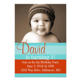 Birthday Party Invite Colors blbr