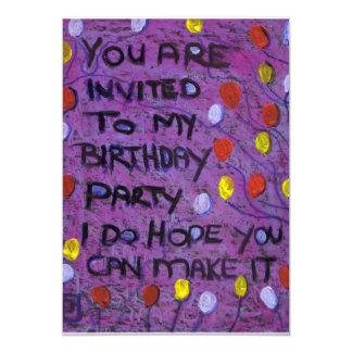 BIRTHDAY PARTY INVITE 13 CM X 18 CM INVITATION CARD