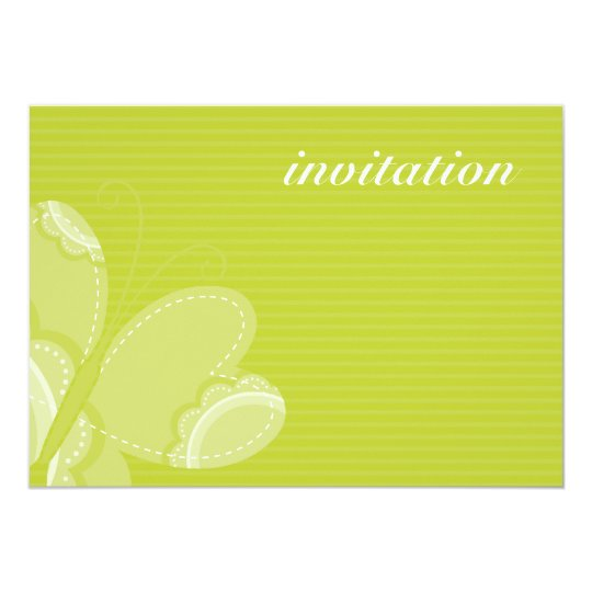 BIRTHDAY PARTY INVITES :: flutterby butterfly 4L