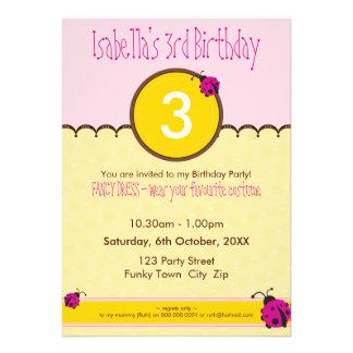 BIRTHDAY PARTY INVITES ladybird 1P