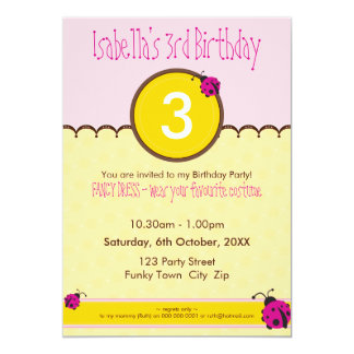 BIRTHDAY PARTY INVITES :: ladybird 1P