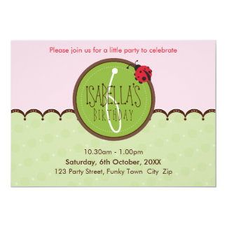 BIRTHDAY PARTY INVITES :: ladybird 4L