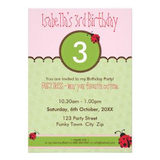 BIRTHDAY PARTY INVITES ladybird 4P