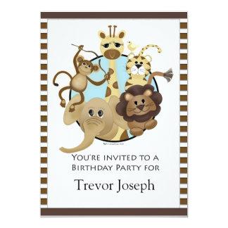 Birthday Party Invitiation Safari Style Card