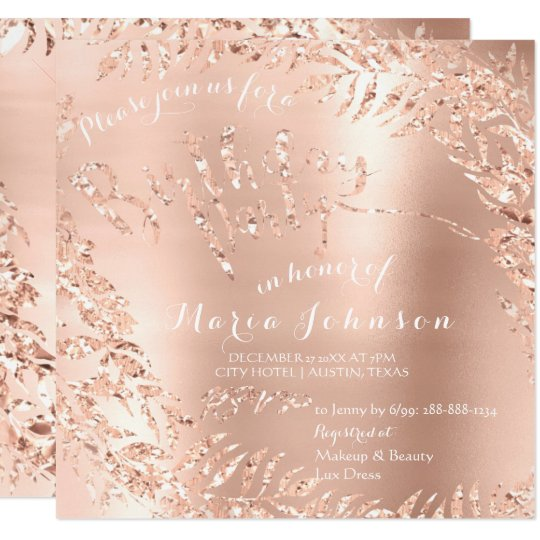 Birthday Party Leafs Wreath Glam Pink Rose Gold