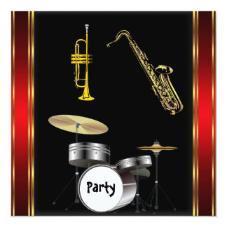 Birthday Party Music Dance Invitation