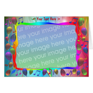 Birthday Party Music Mix (photo frame) Card