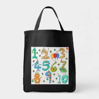 Birthday Party Numbers Canvas Bags