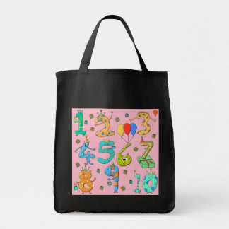 Birthday Party Numbers on Pink Bag