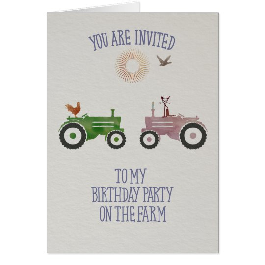 Birthday Party on a farm-Party Invitation
