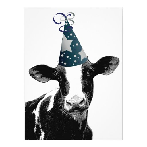 Birthday Party or Baby Shower Party Cow! Personalized Invite