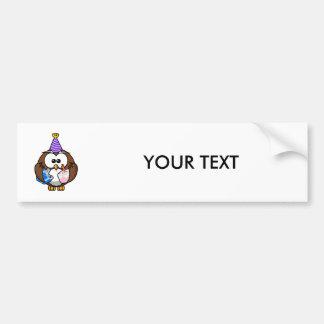 Birthday Party Owl Bumper Sticker