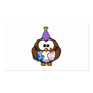 Birthday Party Owl Business Card