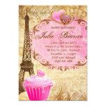Birthday Party Paris Card Eiffel Tower Sweet 16 Pi 13cm X 18cm Invitation Card