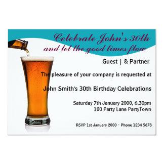 Birthday Party Personalized 13 Cm X 18 Cm Invitation Card