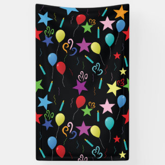 Birthday party photo backdrop banner