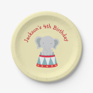 Birthday Party Plates- Circus Theme 7 Inch Paper Plate