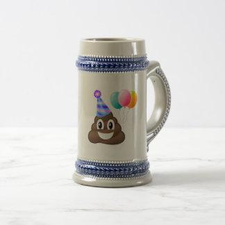 Birthday Party Poop Emoticon Beer Mug