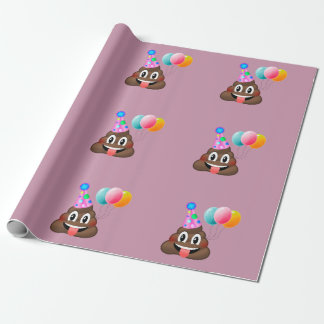 Birthday Party Poop Wrapping Paper  (pink)
