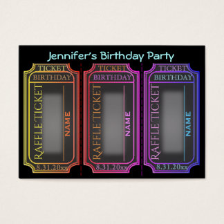 Birthday Party Raffle Tickets