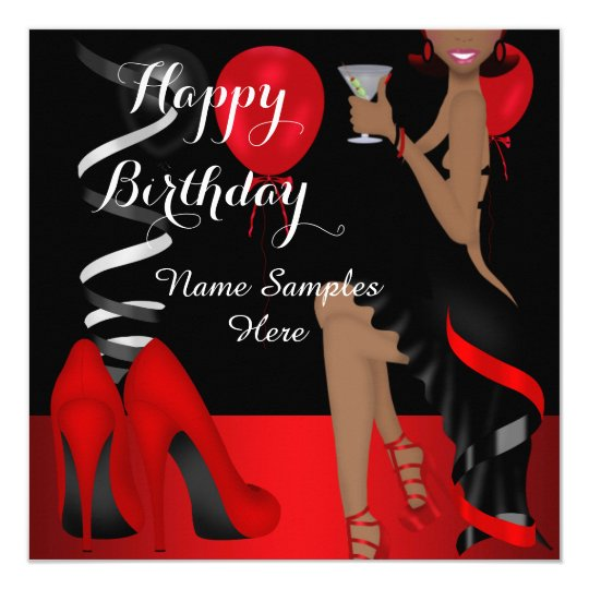Birthday Party Red Black Shoe High Heels Ethnic
