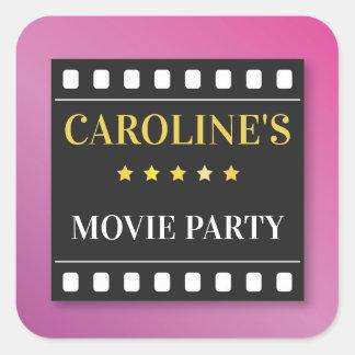 Birthday Party Stickers Movie Film Ticket Theatre
