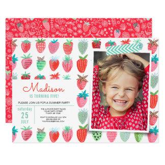 Birthday Party | Strawberry spring | Invitations