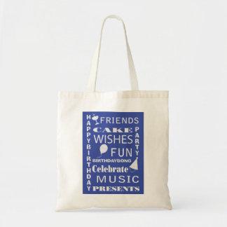 Birthday Party Subway Art Bag