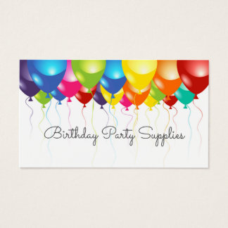 Birthday Party Supplies Balloon Business Card