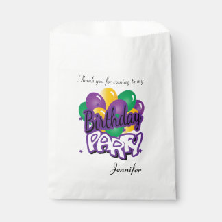 Birthday Party Thank You | Purple Favour Bags