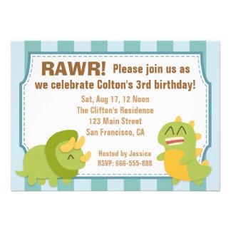 Birthday Party Theme - Cute Dinosaurs Invitations