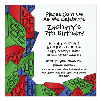Birthday Party - Young Boy 13 Cm X 13 Cm Square Invitation Card