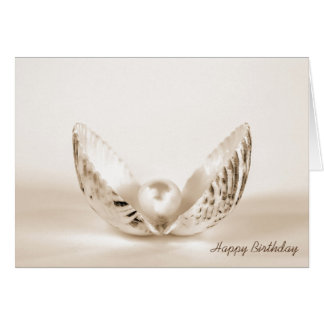 birthday-pearl in oyster shell card