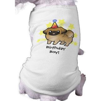 Birthday Pekingese (puppy cut) Sleeveless Dog Shirt