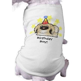 Birthday Pekingese (show cut) Sleeveless Dog Shirt