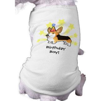 Birthday Pembroke Welsh Corgi Sleeveless Dog Shirt